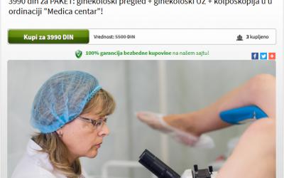 Kupoman akcija – ginekološki pregled + ginekološki UZ + kolposkopija + PAPA