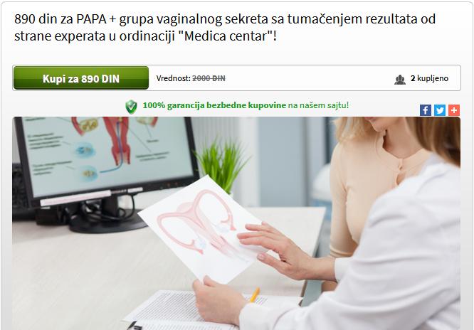 Kupoman akcija – PAPA i grupa vaginalnog sekreta