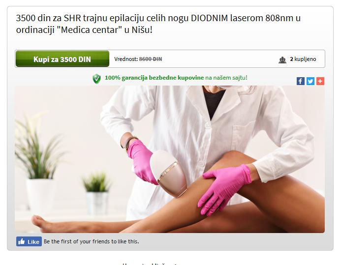 trajna epilacija celih nogu DIODNIM laserom 808nm